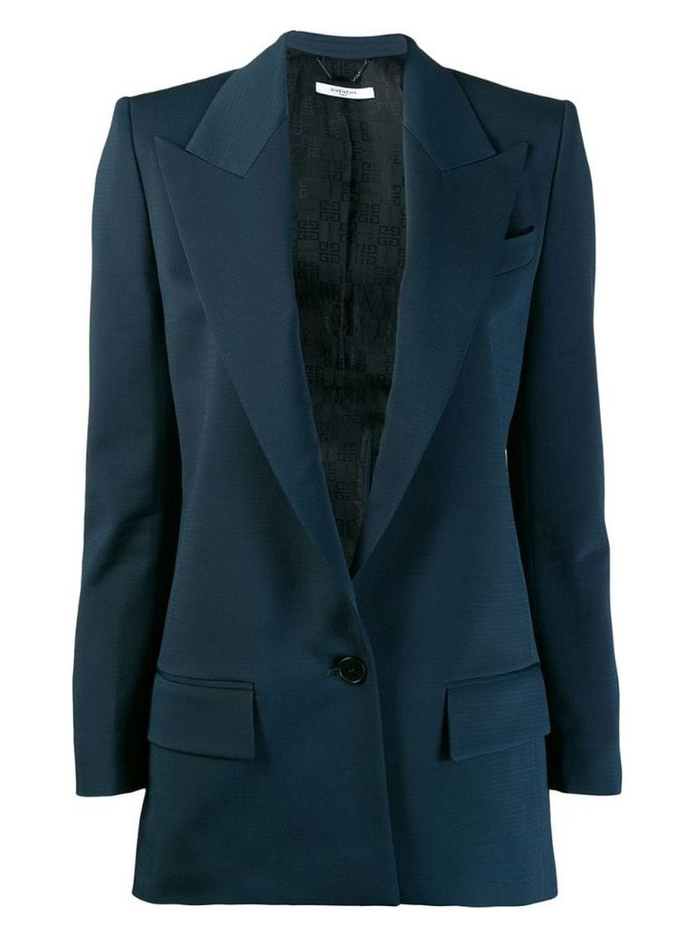 Givenchy deep V-neck blazer - Blue