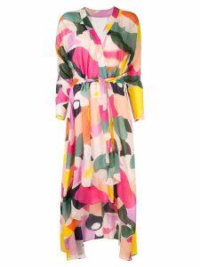 Ginger & Smart Chroma wrap dress - Multicolour