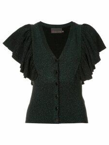 Ginger & Smart tincture metallic knit cardigan - Green