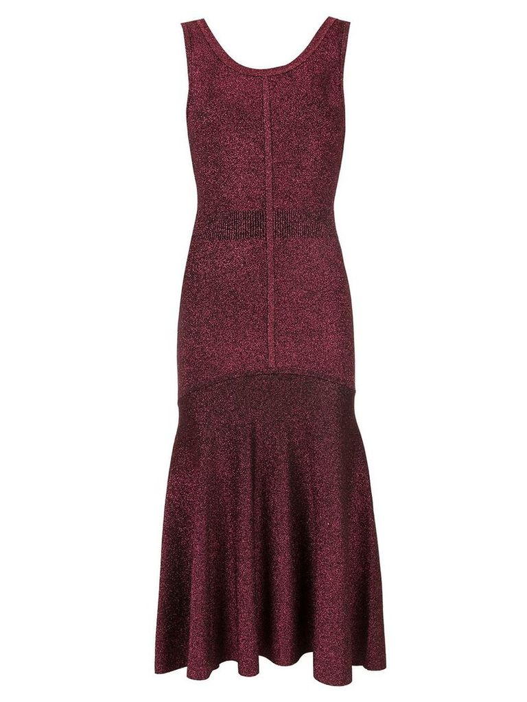GINGER & SMART tincture metallic knit dress - Red