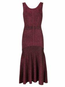 Ginger & Smart tincture metallic knit dress - Red