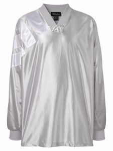 We11done printed jersey top - Silver