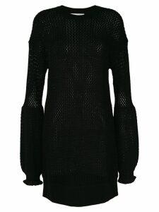 McQ Alexander McQueen mesh knit dress - Black