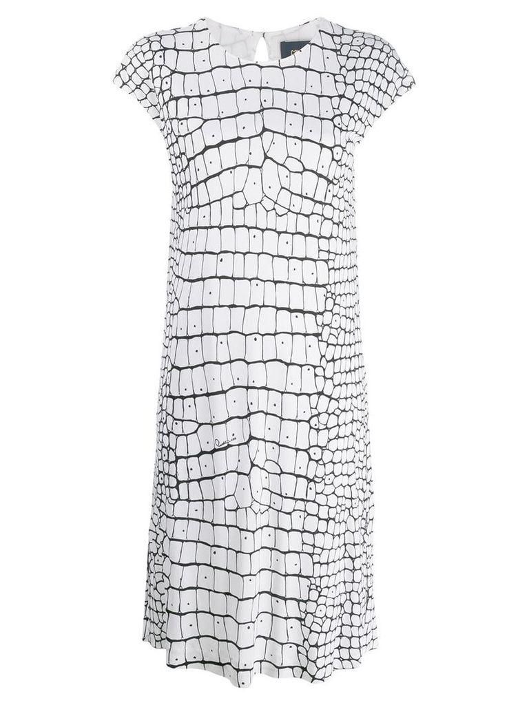 Cavalli Class printed dress - White