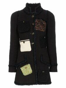 Tiger In The Rain repurposed Chanel tweed coat - Black