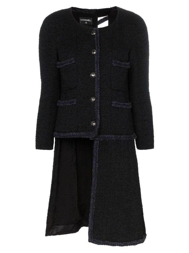 Tiger In The Rain repurposed Chanel trimmed coat - Black