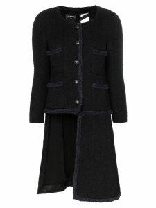 Tiger In The Rain repurposed Chanel trimmed coat - Black