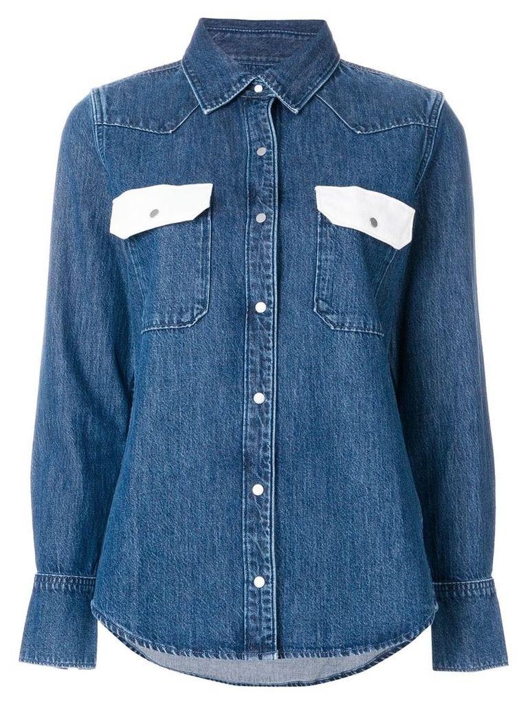 Calvin Klein Jeans Western Lean contrast denim shirt - Blue