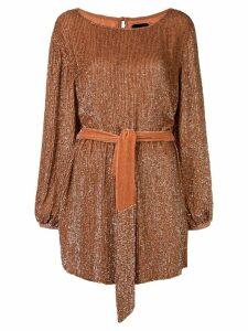 Retrofete Grace squined mini dress - Orange