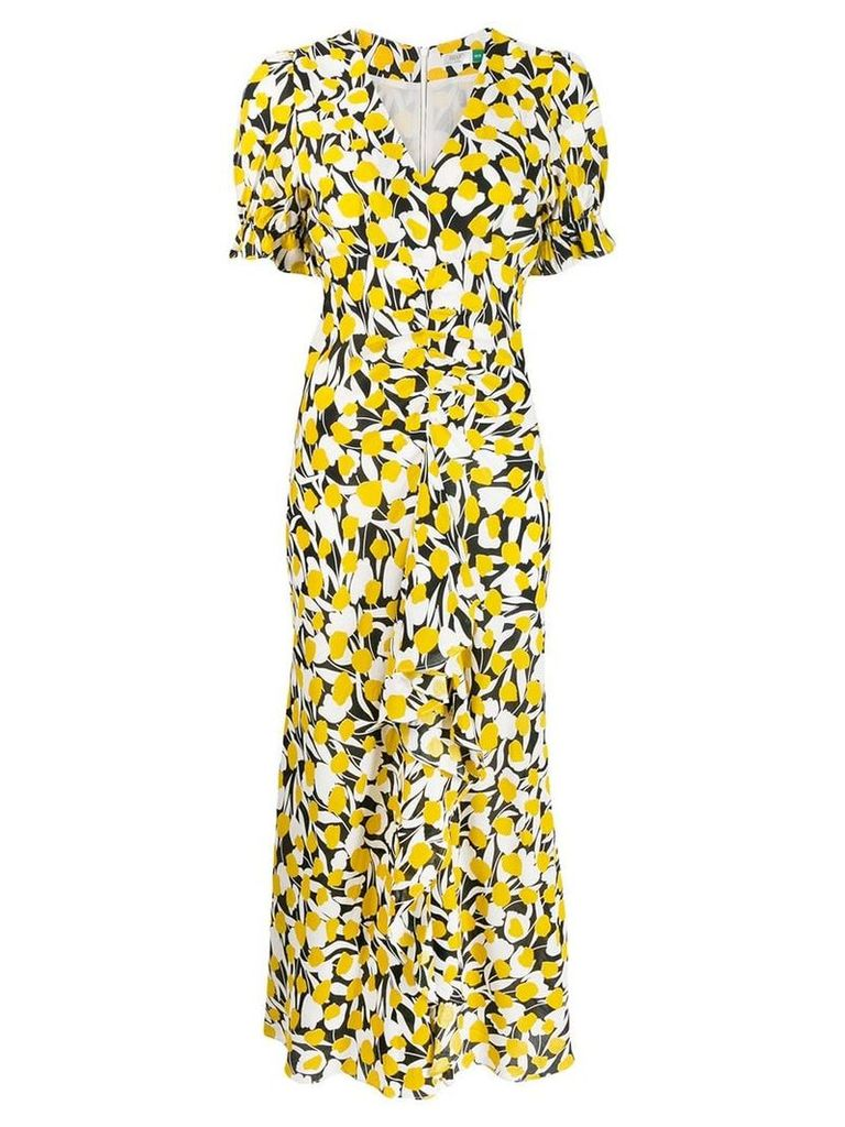 Rixo Ariel printed midi dress - Yellow