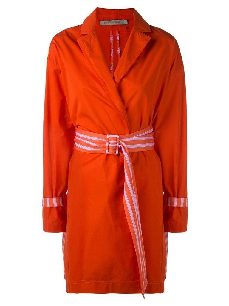 Silvia Tcherassi Gold trench coat - Orange