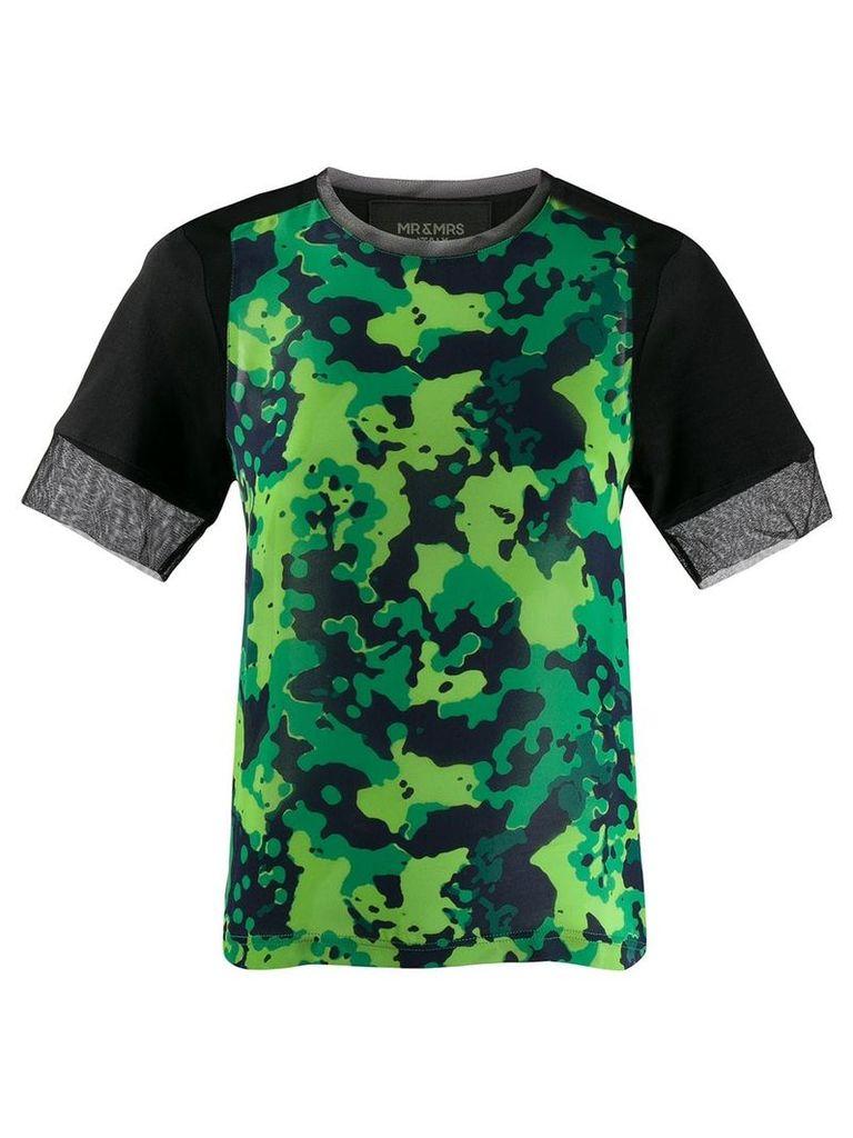Mr & Mrs Italy camo print T-shirt - Green