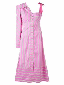 Silvia Tcherassi striped asymmetric shirt dress - Purple