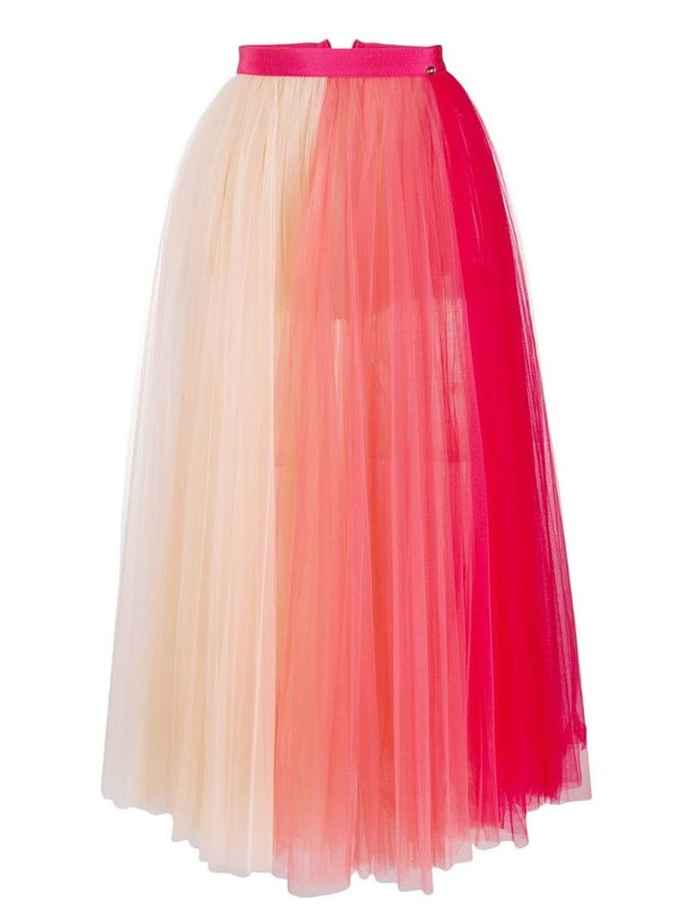 Elisabetta Franchi two-tone tulle skirt - Pink