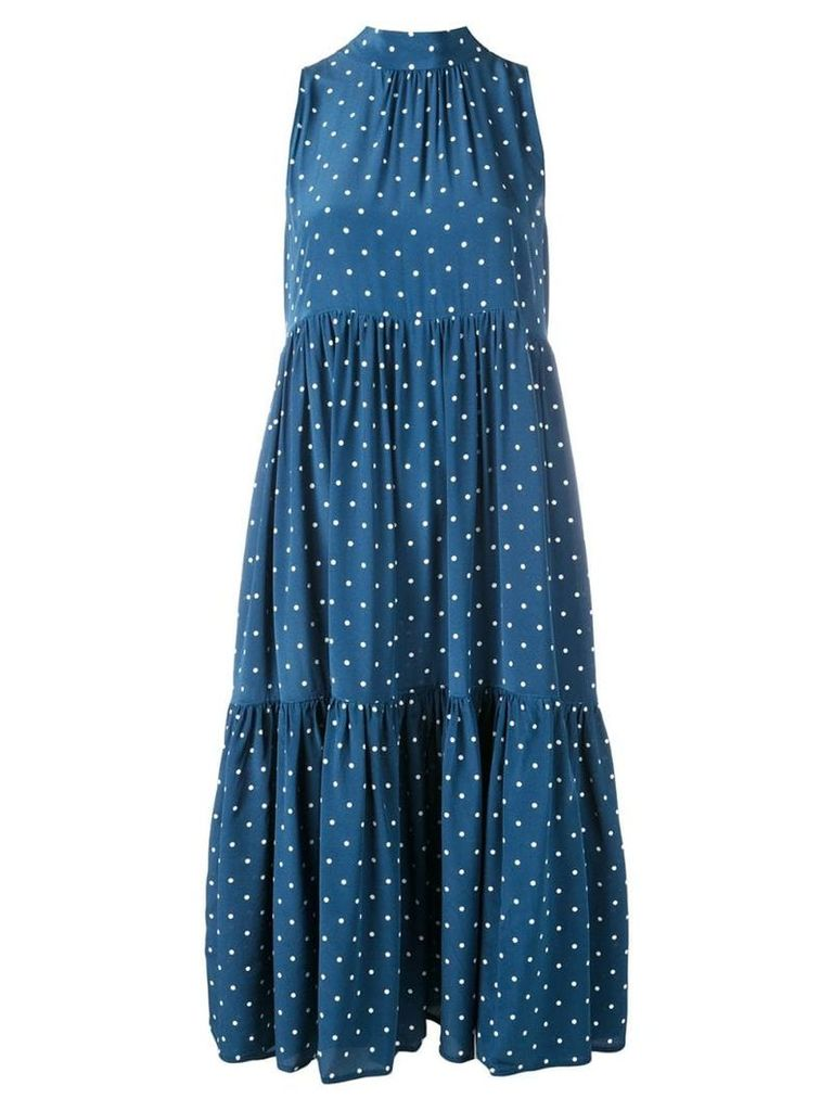 Asceno polka dot dress - Oasis Blue Polka Cw30