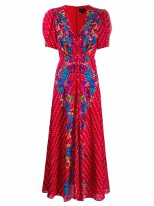 Saloni Scarlet printed dress - Red