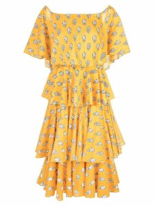 Rhode Resort layered floral dress - Yellow