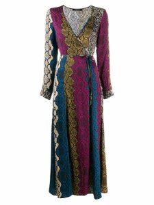 Andamane snake print maxki dress - Pink
