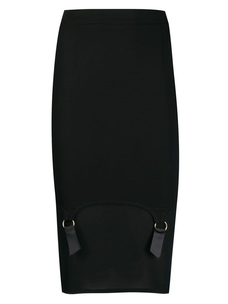 Murmur panel fitted midi skirt - Black