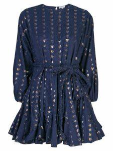 Rhode Resort tie waist mini dress - Blue