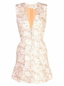 Zimmermann floral print mini dress - Brown