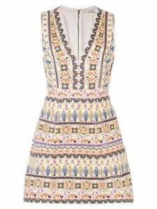 Alice+Olivia multi-pattern embroidered dress - Multicolour