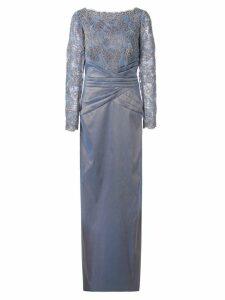 Tadashi Shoji lace constructed gown - Grey