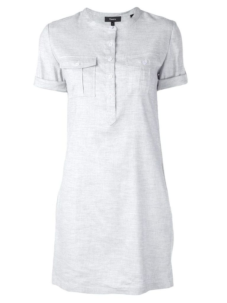 Theory Henley shirt dress - Grey