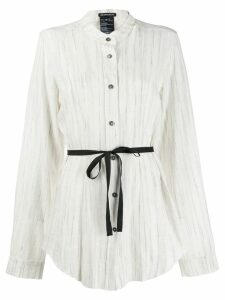 Ann Demeulemeester oversized layered shirt - White