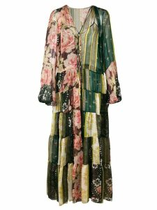 Oscar de la Renta sheer tiered maxi dress - Green