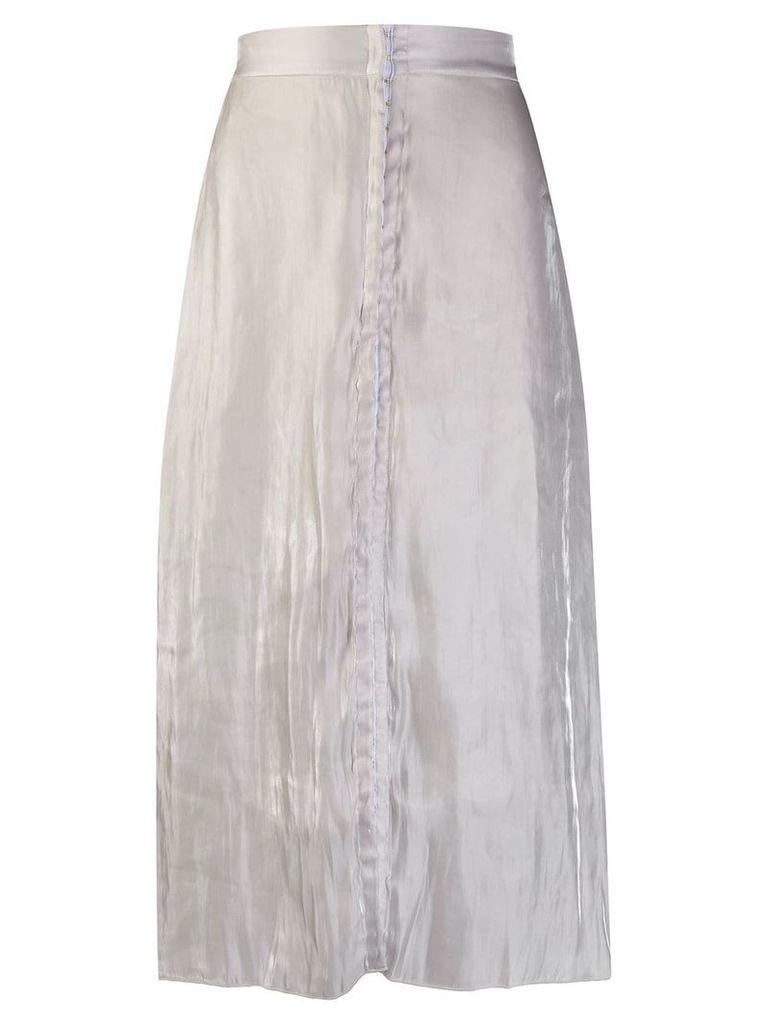 Murmur wrinkled effect flared skirt - White