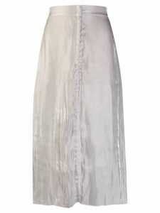 Murmur wrinkled effect flared skirt - White