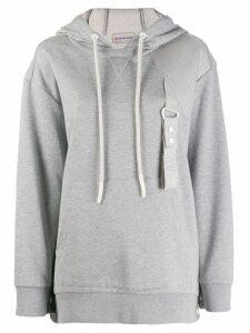 Moncler strap detail hoodie - Grey
