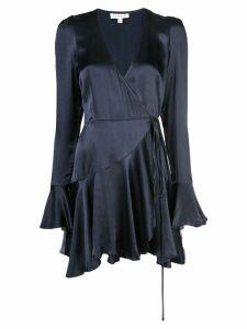 Shona Joy morrison wrap mini dress - Blue