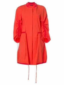 Josie Natori drawstring sleeve coat - Red