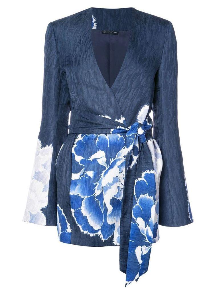 Josie Natori belted topper - Blue