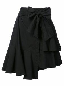 Josie Natori asymmetric wrap skirt - Black