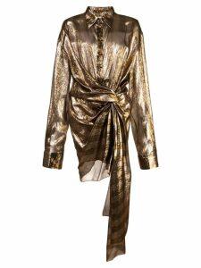 Oscar de la Renta knot detail shirt dress - Gold