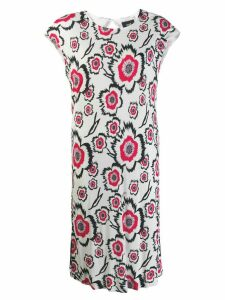 Cavalli Class floral print T-shirt dress - White