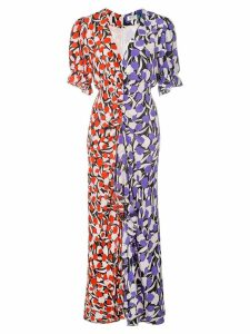 Rixo mesh duo-print dress - Multicolour