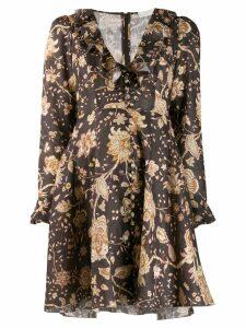 Zimmermann paisley V-neck dress - Brown