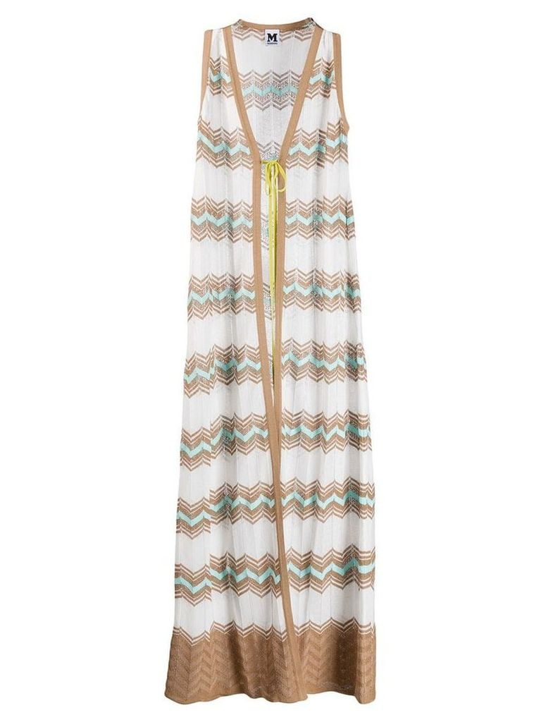 M Missoni knitted long coat - White