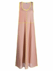 M Missoni flared maxi dress - Orange