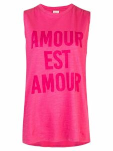 Cinq A Sept Love is Love sleeveless T-shirt - Pink