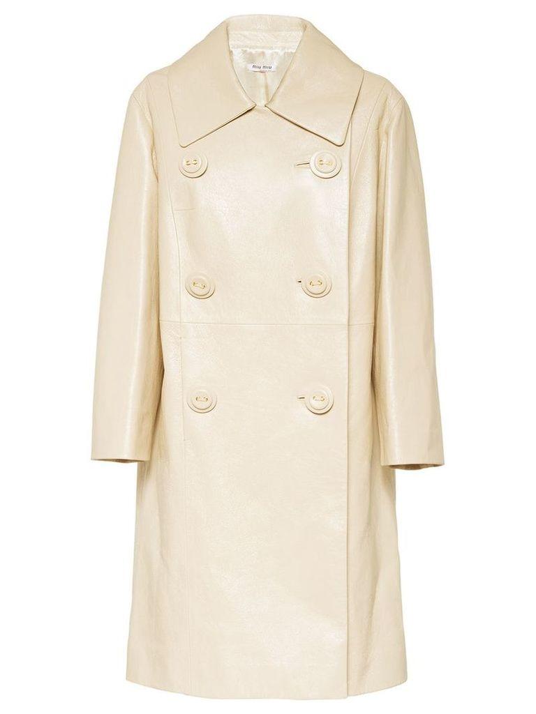 Miu Miu double-breasted coat - Neutrals