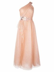 Marchesa Notte one shoulder dress - Pink