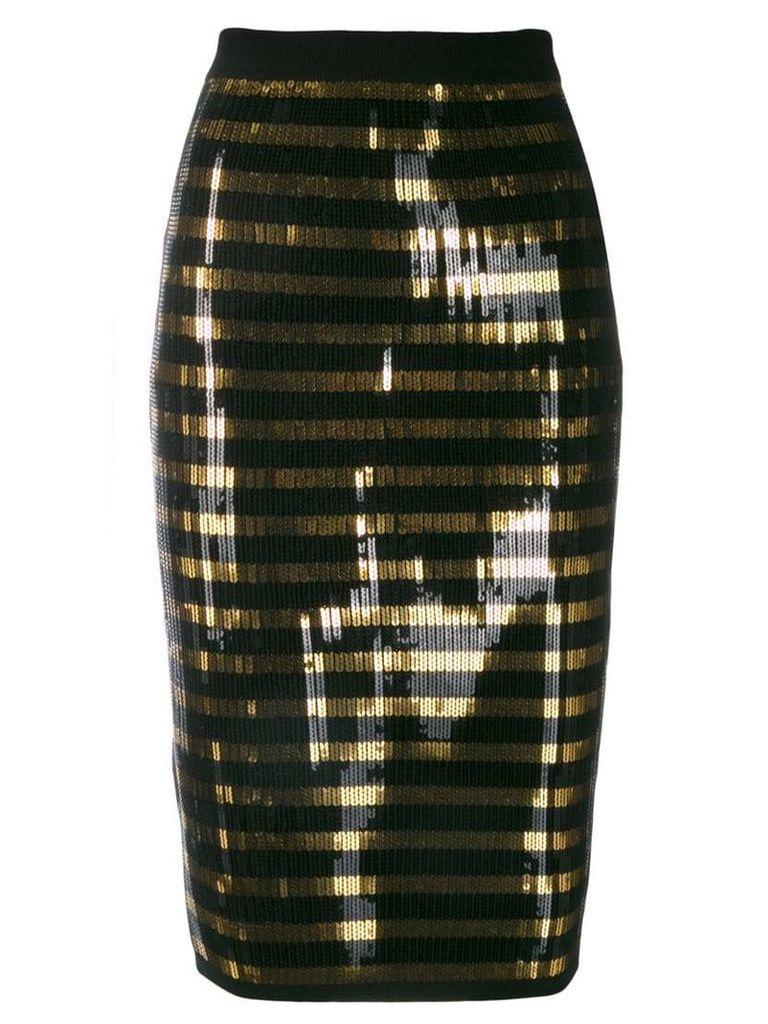 Ralph Lauren striped sequined skirt - Black