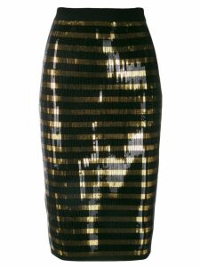 Ralph Lauren striped sequined skirt - Black