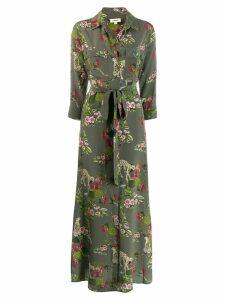 L'agence floral maxi dress - Green