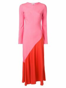 Layeur colour block maxi dress - Pink